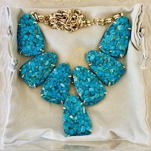 Kendra Scott Bronze Veined Turquoise Harlow